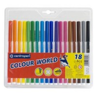 Фломастеры (CENTROPEN) Colour World 18цв. арт.7550/18 TP / 7790/18 TP